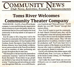 Newspaper Welcome, 2009