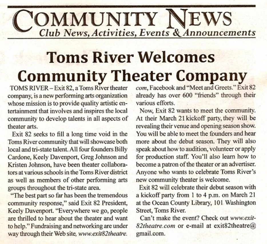 Newspaper Welcome, 2009