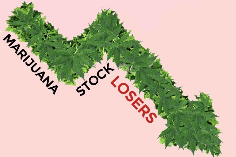 5 of Today's Biggest Marijuana Stock Losers - Monday, April 16th