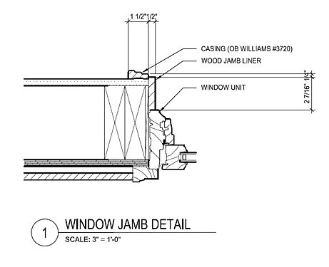 Technical drawings for Window jamb design