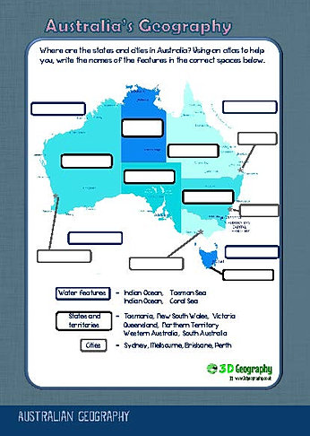 australia geography worksheets. Black Bedroom Furniture Sets. Home Design Ideas
