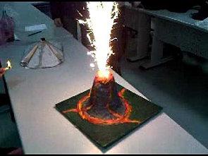 Amazing volcano model!