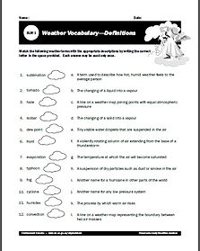 Worksheets Weather And Climate - Worksheets for Kids, Teachers ...