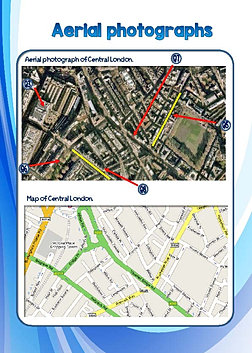 Map skills worksheets identifying map features using an aerial photo gumiabroncs Choice Image