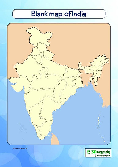 blank river map of india pdf