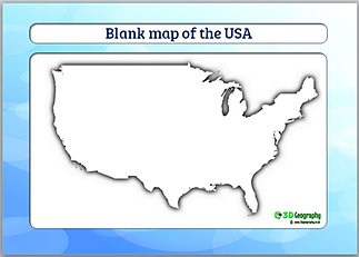 Country Outline Maps - A blank map of the us