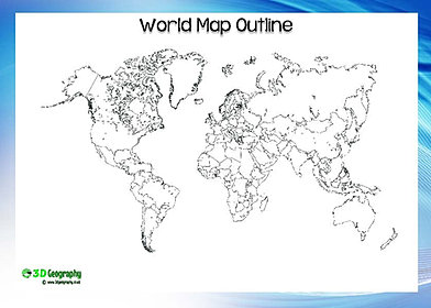 Blank World Maps - Blank world map a4