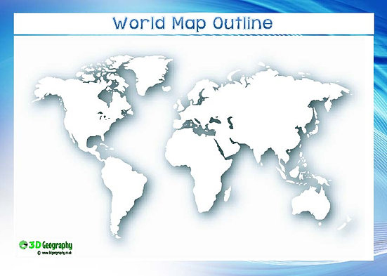 Blank World Maps - Blank continent map printable