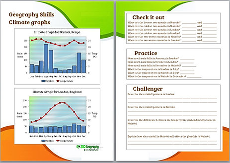Student Worksheet: Use Excel to create a Climatogram