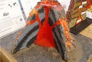 Geography model - Volcano model