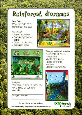 Free rainforest worksheets for teaching and learning about rainforests