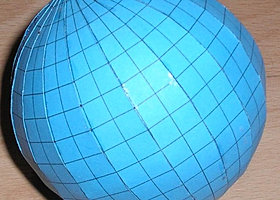 Geography for kids - make a 3D globe