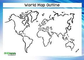Blank Physical World Map Printable Blank world maps