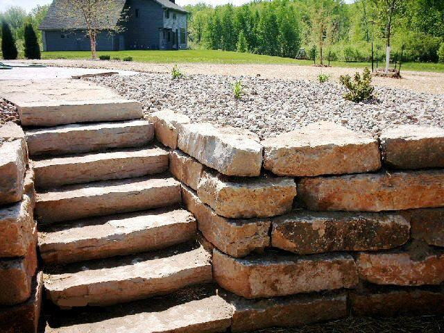 Natural Limestone Walls : Willemslandscape serivce inc limestone retaining wall