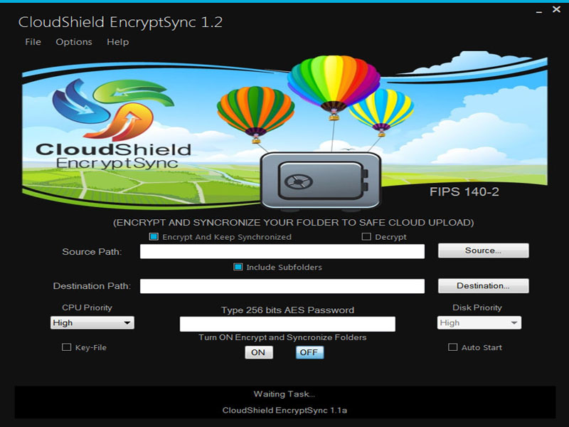 CloudShield EncryptSync Screen shot