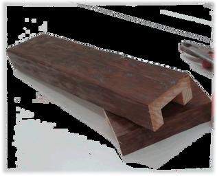 Vigas decorativas de madera vigas huecas viga decorativa - Vigas de madera huecas ...