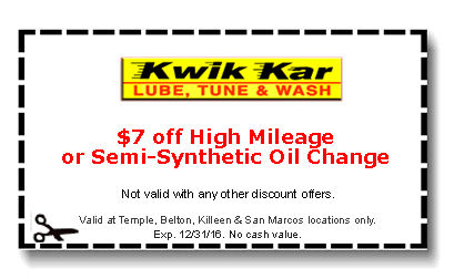 High mileage oil change coupons 2018