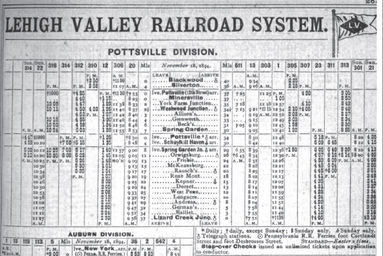 Lvrr Lehigh Valley Railroad Pottsville Branch Wix Com