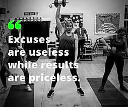 Excusesare uselesswhile results are pr