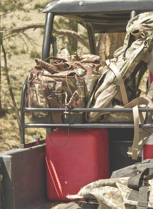 rear cargo storage rack by hornet outdoors for polaris