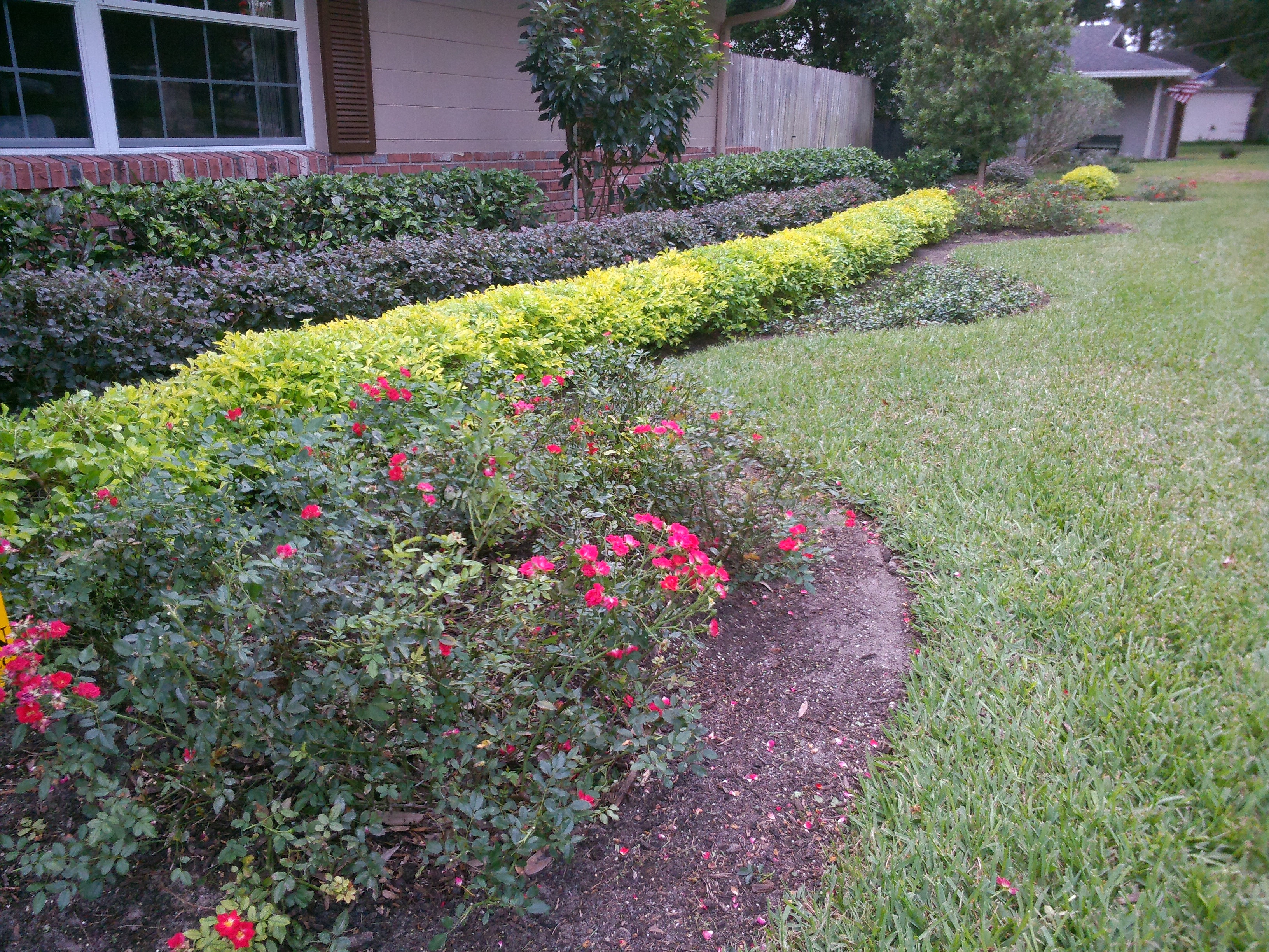 Creative outdoor design landscape contractor the villages for Colorful front yard landscaping
