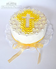 tortas de comunion con cruz