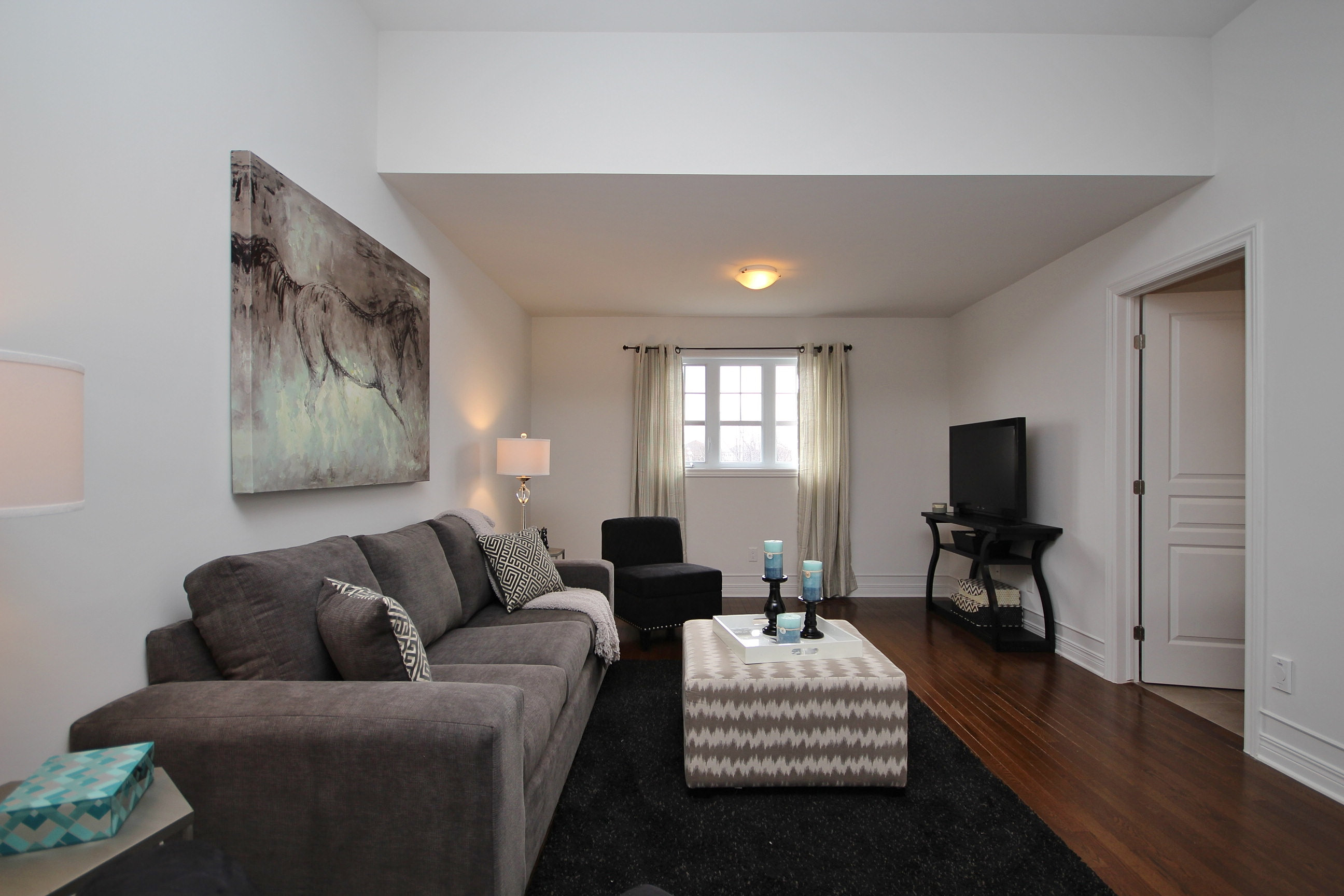 capital home staging design ottawa home stager loft tv room