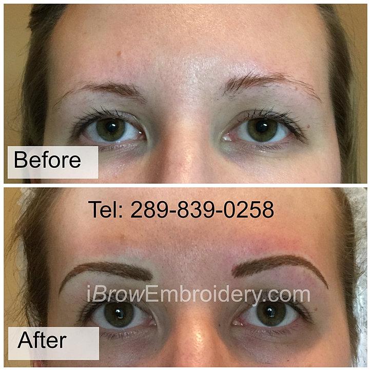 photo gallery 3d temporary eyebrow microblading