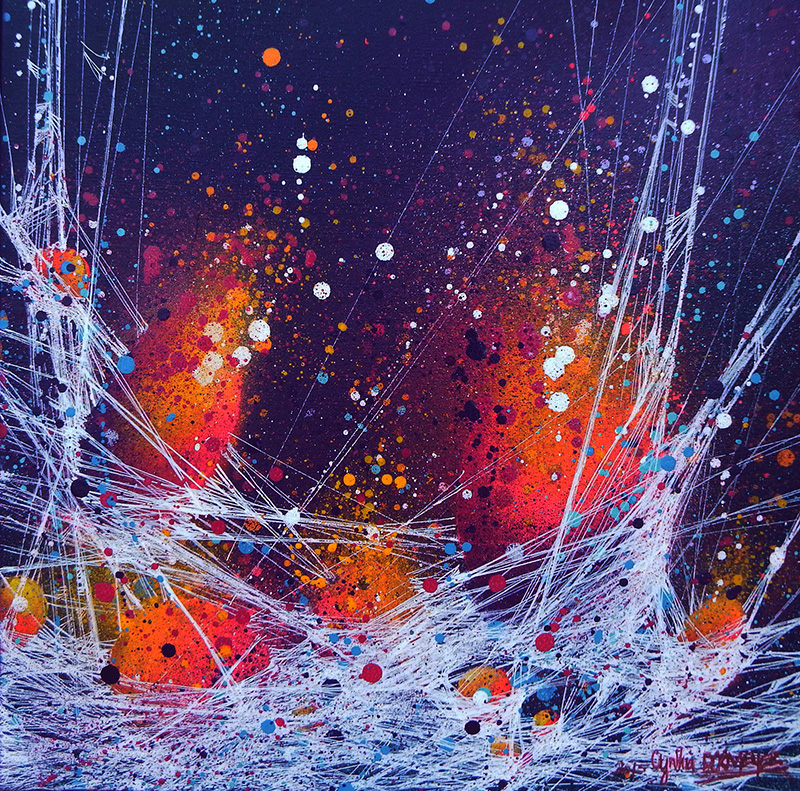 Tuto r aliser une peinture la technique mixte cynthia dormeyer - Tuto peinture abstraite contemporaine ...