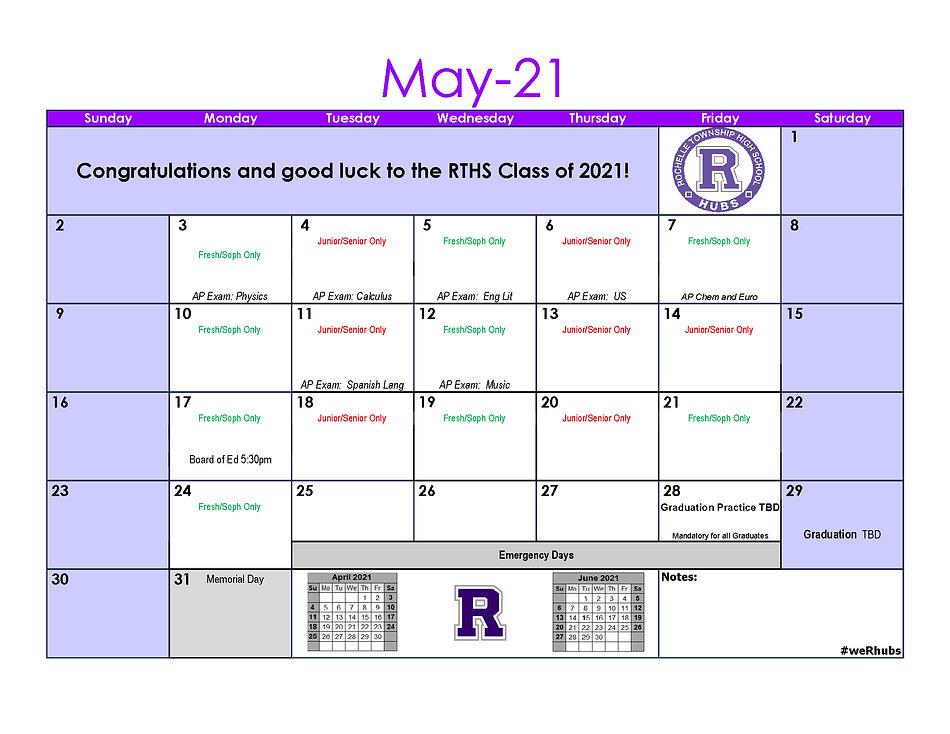 2020-2021 School Calendar Update 2.1 Feb