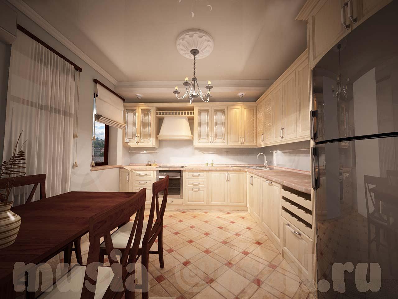 Интерьер кухни 25 кв м фото