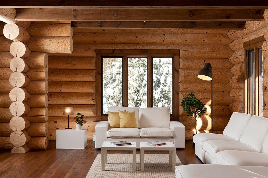 Bois rond bois massif confort nature for Maison bois rond