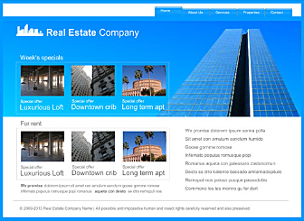 Sky High Estates Template - This Corporate looking Website template is easy to customize and lets you present all the products and offers that your customers are looking for in real time. Just edit to make it your own in no time at all.