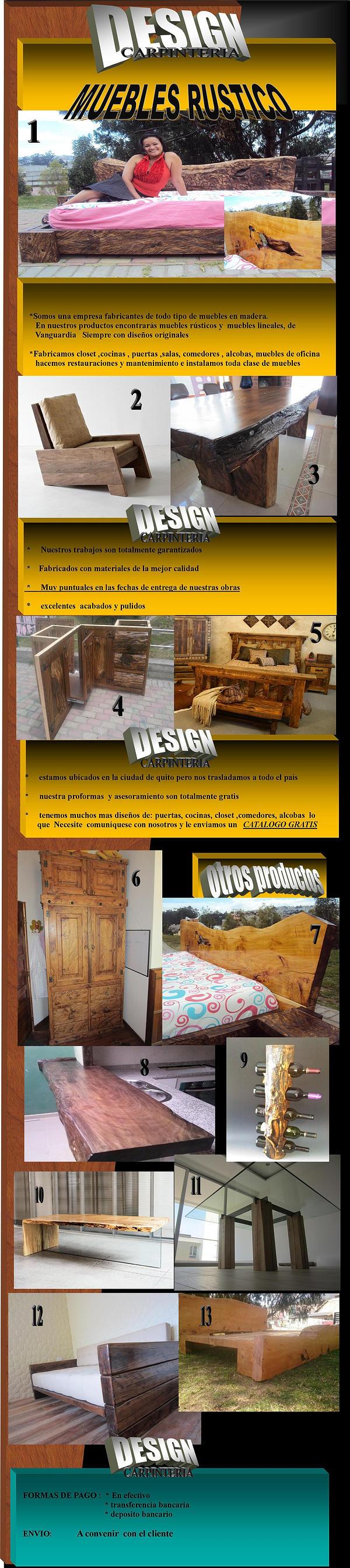 cama closet salas comedores cocinas muebles de madera rusticos