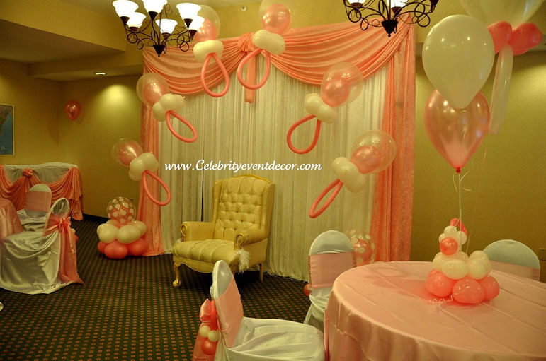 Celebrity event decor banquet hall jacksonville fl for Baby shower hall decoration