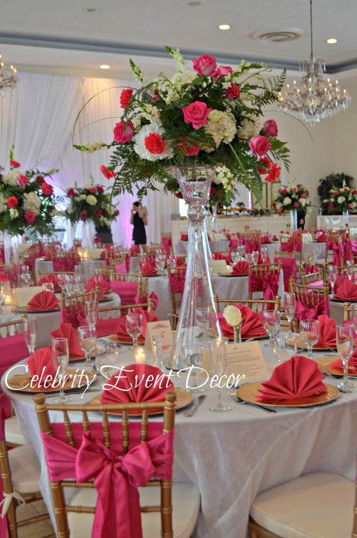 Reception Hall Decorations. Hot Pink jpg Celebrity Event Decor Banquet Hall Jacksonville FL  Balloon