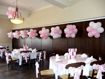 Celebrity event decor jacksonville fl balloon decorations for Baby shower hall decoration