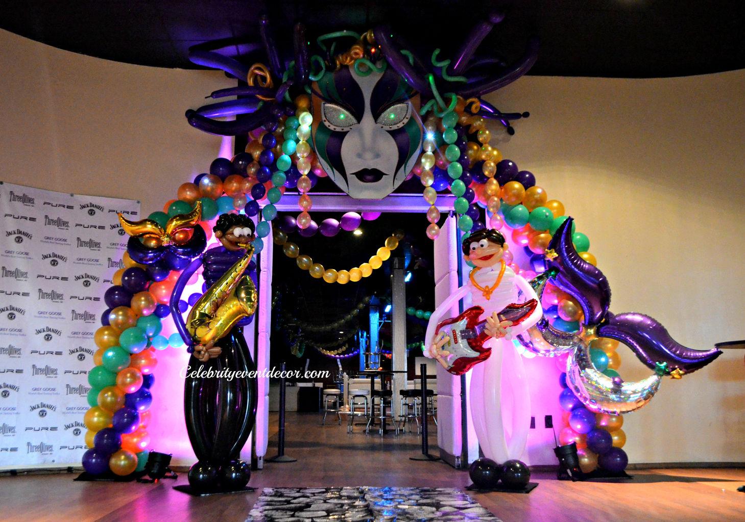 mardi gras balloon decorationsjpg - Event Decorations