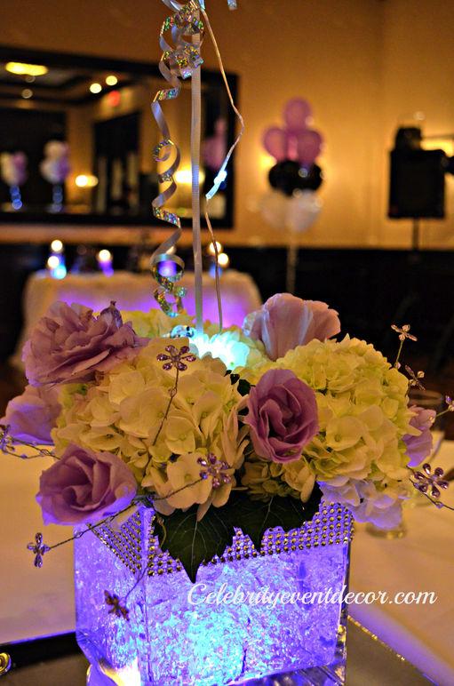 Celebrity event decor banquet hall jacksonville fl for Flower arrangements for sweet 16