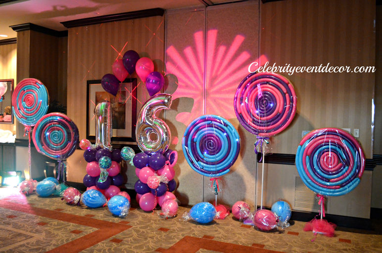 Celebrity event decor banquet hall jacksonville fl for Balloon decoration ideas for sweet 16
