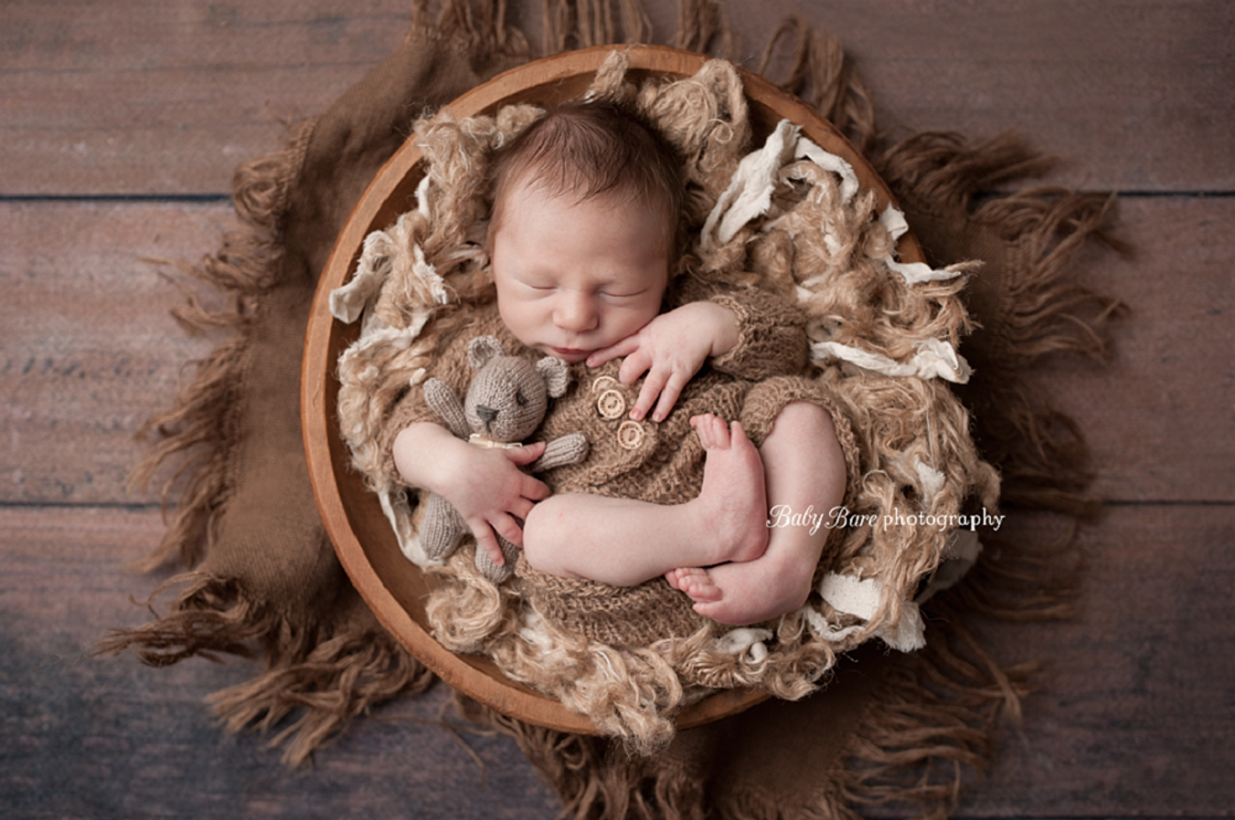 Teddy bear baby photography prop