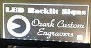 LED back-lit signs