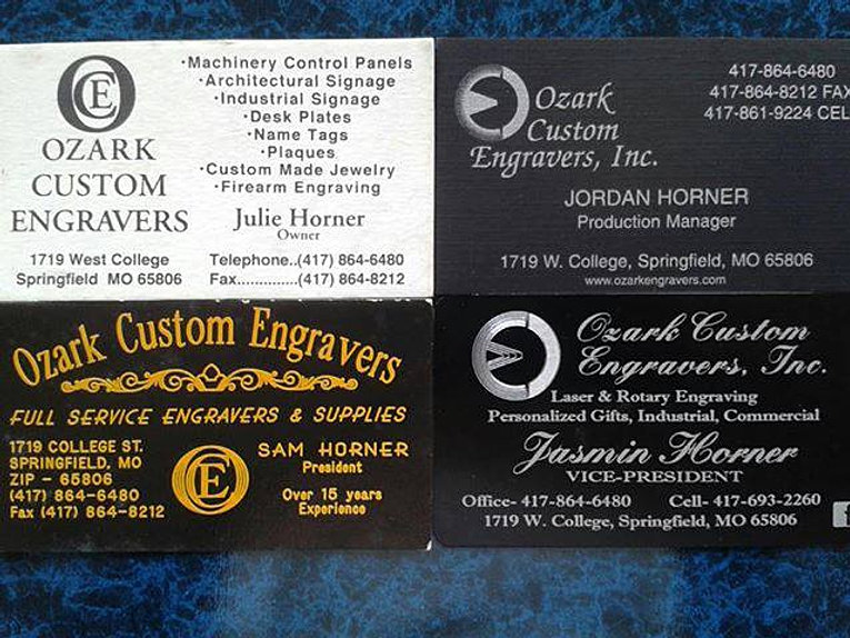 Progression of our business cards