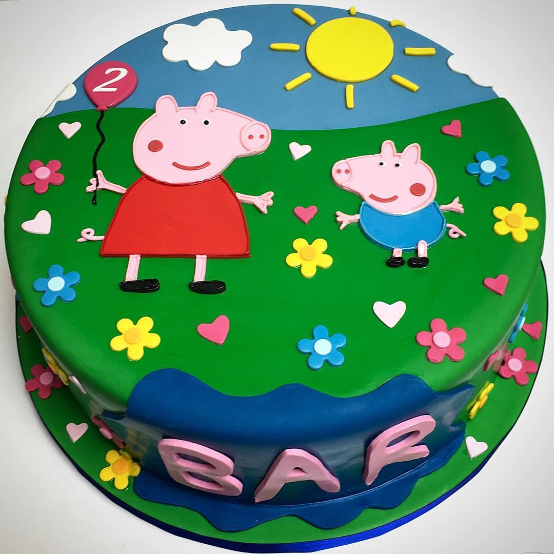Birthday Cake Design For Papa : Custom cakes by Delicious Arts Los Angeles Peppa Pig ...