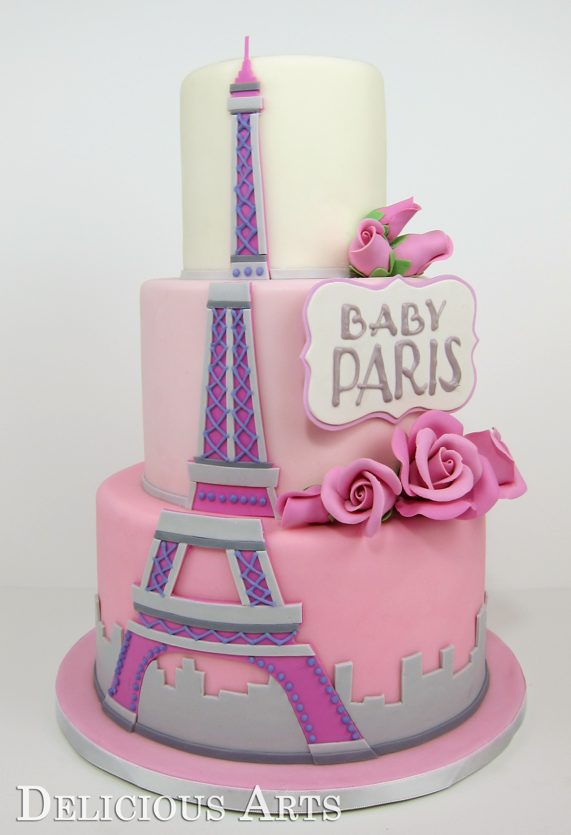 arts custom cake studio bakery paris themed baby shower cake