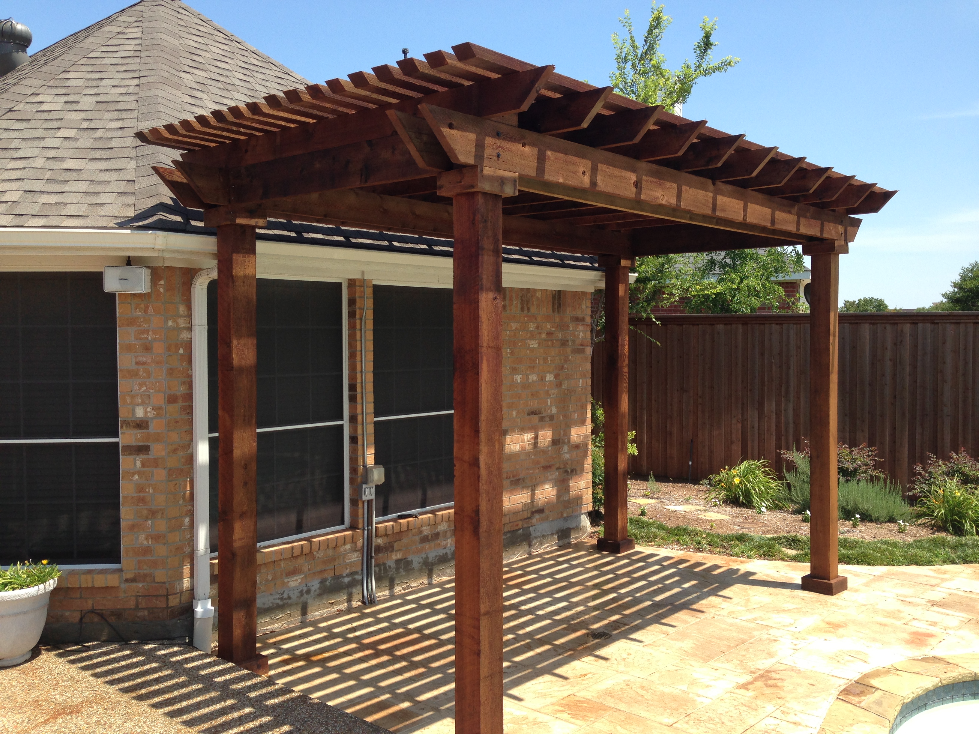 dallas texas fence company nortex cedar pergola free standing. Black Bedroom Furniture Sets. Home Design Ideas