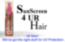 KBrands SUNSCREEN 4UR HAIR LOGO WITH BOT