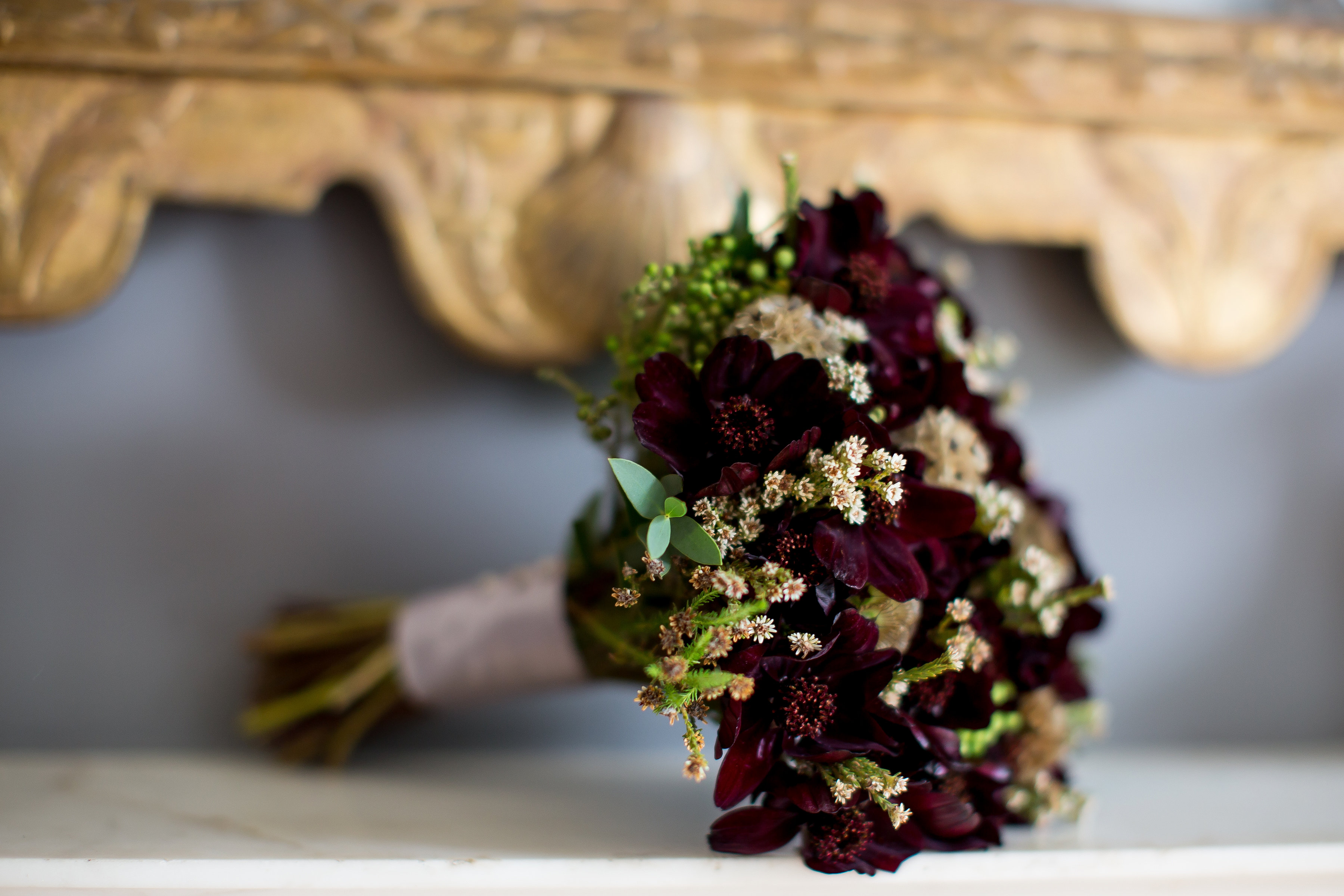 Wedding Flowers By Pumpkin And Pye Chocolate Cosmos Bouquet