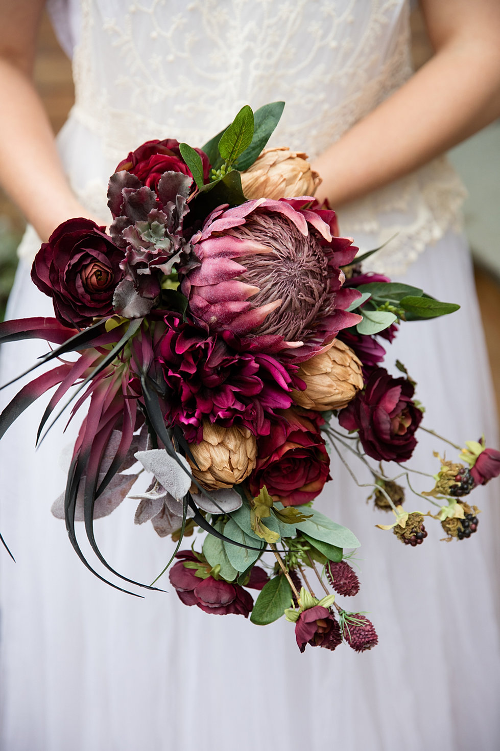 Alternative bouquets button and brooch bouquets trailing marsala artificial bouquet dhlflorist Image collections