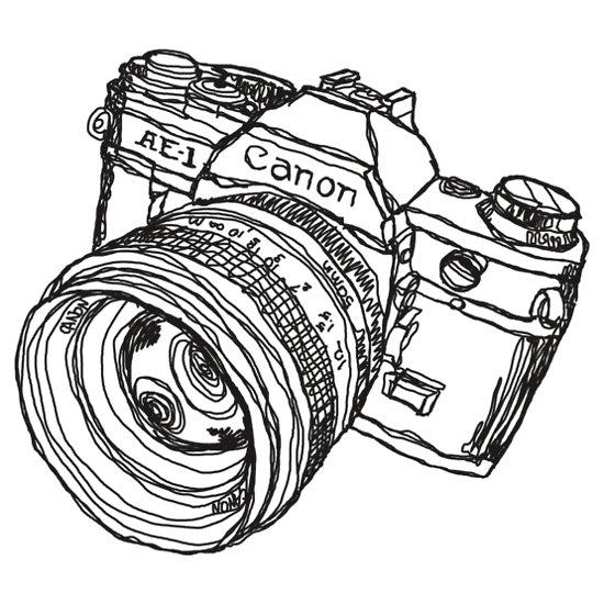 Camera Drawings Camera Black And White Drawing
